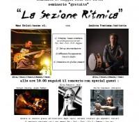 Seminario gratuito 'La Sezione Ritmica' con Andrea Fontana e Max Gelsi