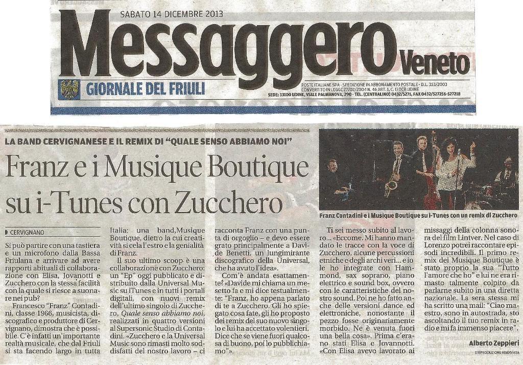 Musique Boutique Messaggero Veneto 14-12-2013 Web