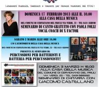 3 eventi imperdibili : Paola Folli, Leo Di Angilla e Giacomo Castellano