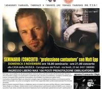 Seminario-Concerto 'Professione Cantautore'