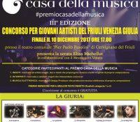 """Premio """"Casa della Musica"""" di Cervignano del Friuli – 3a edizione"""