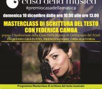 """""""MASTERCLASS DI SCRITTURA DEL TESTO"""" con Federica Camba"""