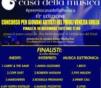 """ecco i 15 finalisti del """"Premio Casa della Musica"""" IIIa edizione"""